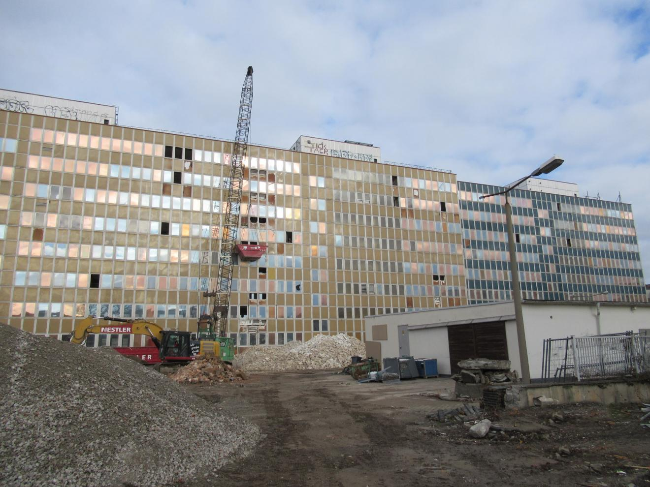 Rückbau der Gebäudesubstanz auf dem Areal Schützengarten, Könneritzstraße 25 in Dresden