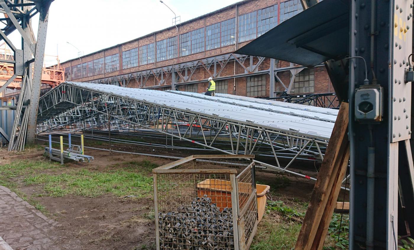 Reparatur Brandschaden - Presse 27 MN in der Schmiedewerke Gröditz GmbH, Riesaer Straße 1 in 01609 Gröditz im Landkreis Meißen
