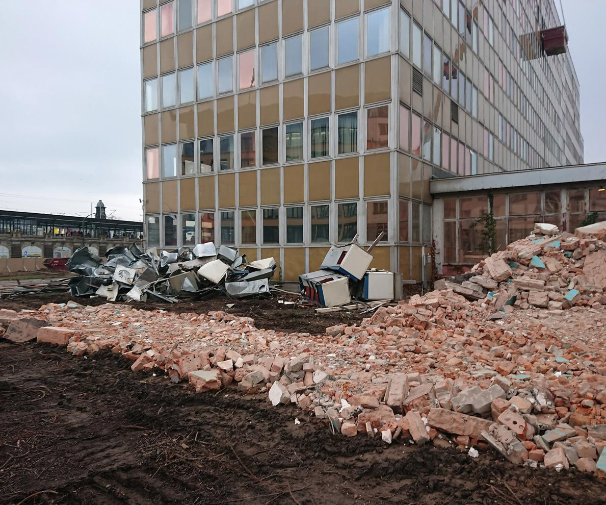 Neubau Schützengarten Dresden/Landeshauptstadt Dresden im Freistaat Sachsen - Gewerk Abbruch