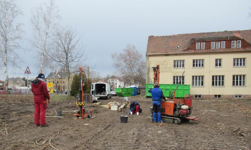 Baugrundgutachten mit Aussagen zu abfall- und altlastenrelevanten Sachverhalten zur Umnutzung Verwaltungsgebäude und Neubebauung in Mügeln/Landkreis Nordsachsen