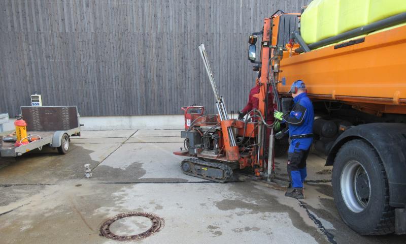Baugrundgutachten zum Aufstellen eines 30 m³ Sohletanks in Riesa/ Landkreis Meißen